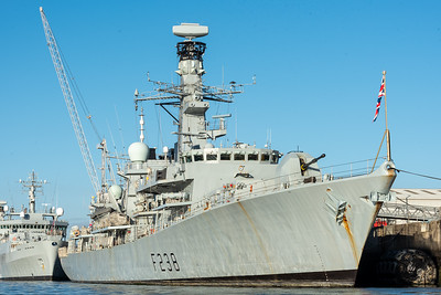 HMS Northumberland alongside HMNB Devonport