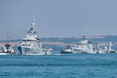 HMS Tamar and HMS Spey deploy to Indo Pacific Region
