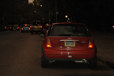 10-24-04 MINIs in Manhattan Sunrise run 001