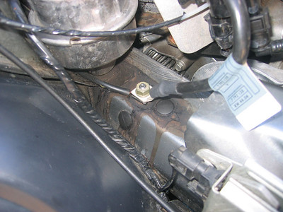 Engine mount leak