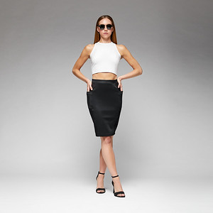 KV-TP1903 MANHATTAN TOP; KV-SK18101 SOHO SKIRT;