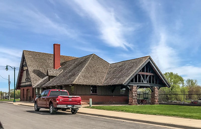 railroad depot train station Little Falls MN  IMG_3269