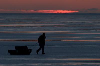 Ice fisherman Lake Superior sunrise Duluth MN Stensaas CRW_1297 - 2007-03-10 at 05-31-20