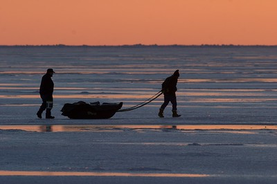 Ice fisherman Lake Superior sunrise Duluth MN Stensaas CRW_1321 - 2007-03-10 at 05-40-52