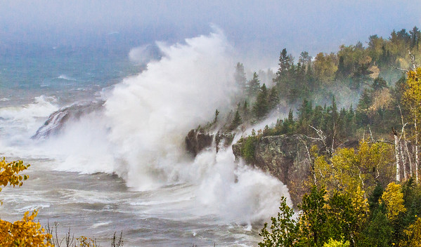 Waves Lake Superior cliffs storm Tettegouche State Park Lake County MN StensaasIMG_4798