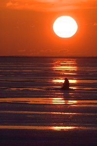 Ice fisherman Lake Superior sunrise Duluth MN Stensaas CRW_1316