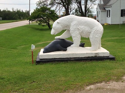 Polar Bear and seal sculpture near Wadena MN IMG_3425
