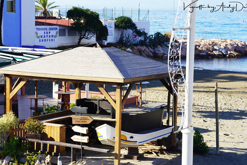 Dig that 'BOAT BAR TABLE' right on the beach in MARBELLA!