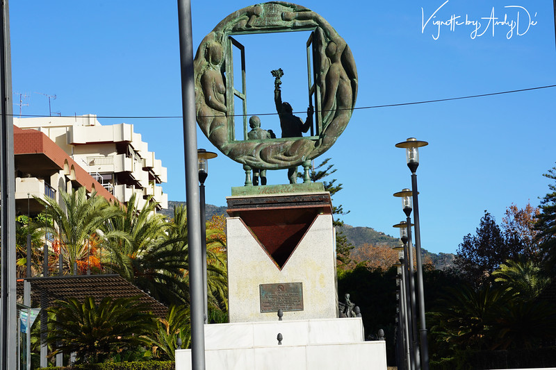 Bronze sculpture embellishing a well-appointed children's park off the main beach in MARBELLA!