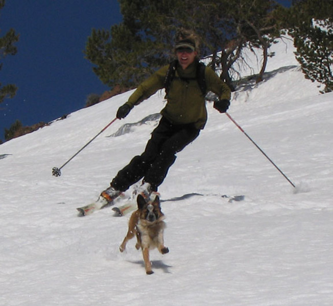 Rocket and I skiing Idaho's backcountry. Scott Grill photo
