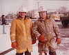 Dad & George at an extra alarm fire in Evergreen Park