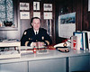 Dad at his desk after being promoted to Chief in 1987