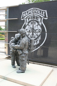 NAPERVILLE FIREFIGHTERS MEMORIAL LOCATED AT STATION 7