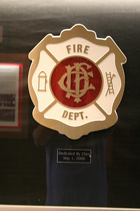 CHICAGO FIRE DEPT BADGE PLAQUE AT THE FIRE ACADEMY