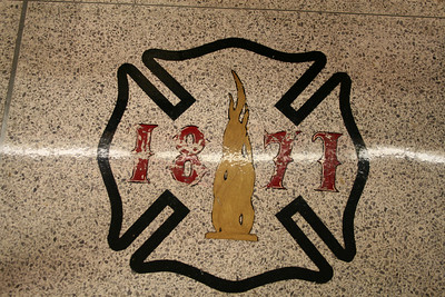 CHICAGO FIRE ACADEMY.  NOTING THE POINT OF ORIGIN FROM THE GREAT CHICAGO FIRE IN 1871