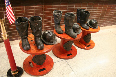 BOOT & HELMETS AT THE CHICAGO FIRE ACADEMY