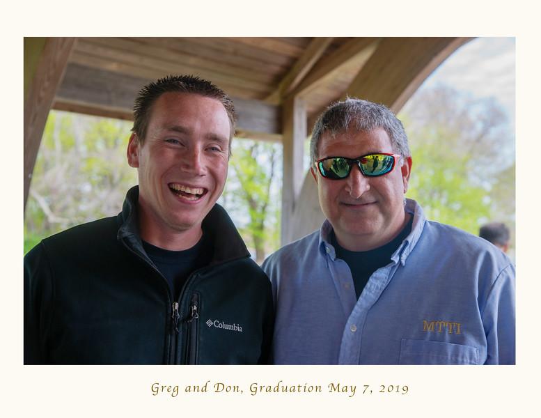 Greg (big smile) with Don