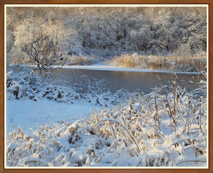 Snow on Sudbury River