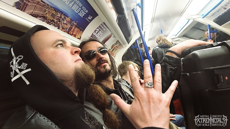 Ville & Davide. London subway- On our way to the venue. April 2016.
