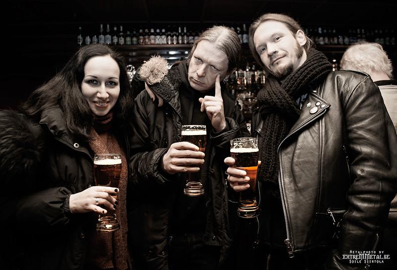 Ina, Johan Nephente (NETHERBIRD) & Lars - Sthlm Copperfields 9/1 2016