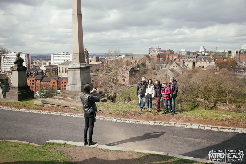 """""""Just take one step back...""""  Vlad having a quick photo shoot  with some tourists xD. Glasgow Necropolis April 2016."""