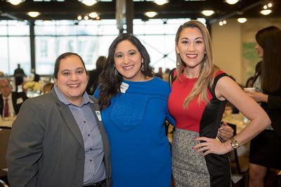 Elvia Aguilar (left), Claudia Huerta and Jennifer Vela.