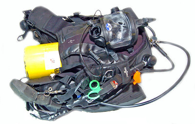 Divers Backpack with all needed equipment for underwater search and rescue.