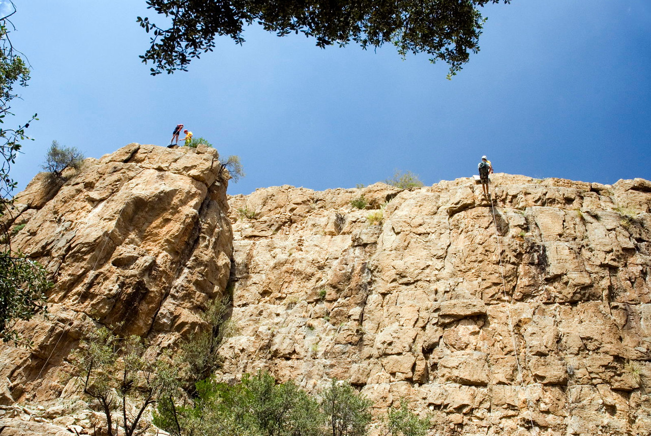 Abseiling  trip on Jabal Akhdhar, in the Western Hajars.