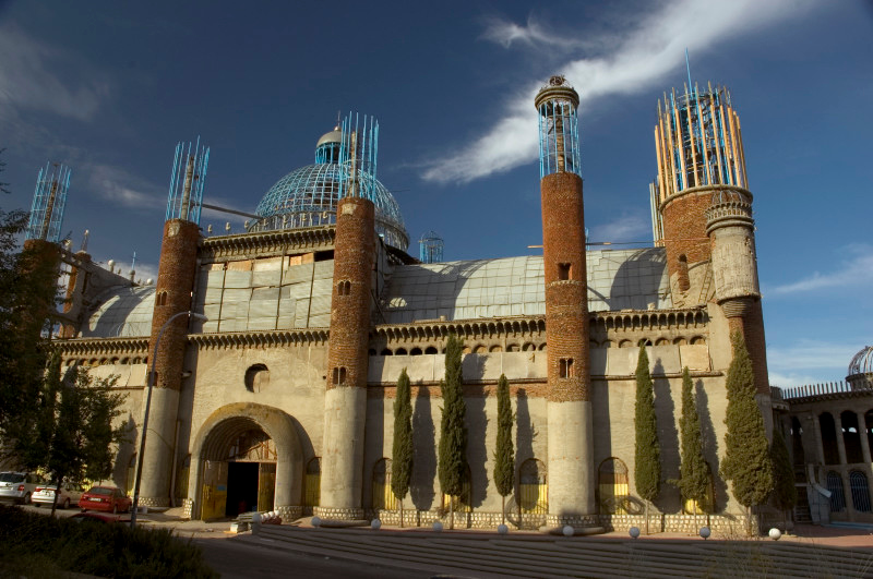 Don Justo's cathedral covers 8,000sq metres, is 50 metres long and rises to 37m (on the cross at the top of the dome).