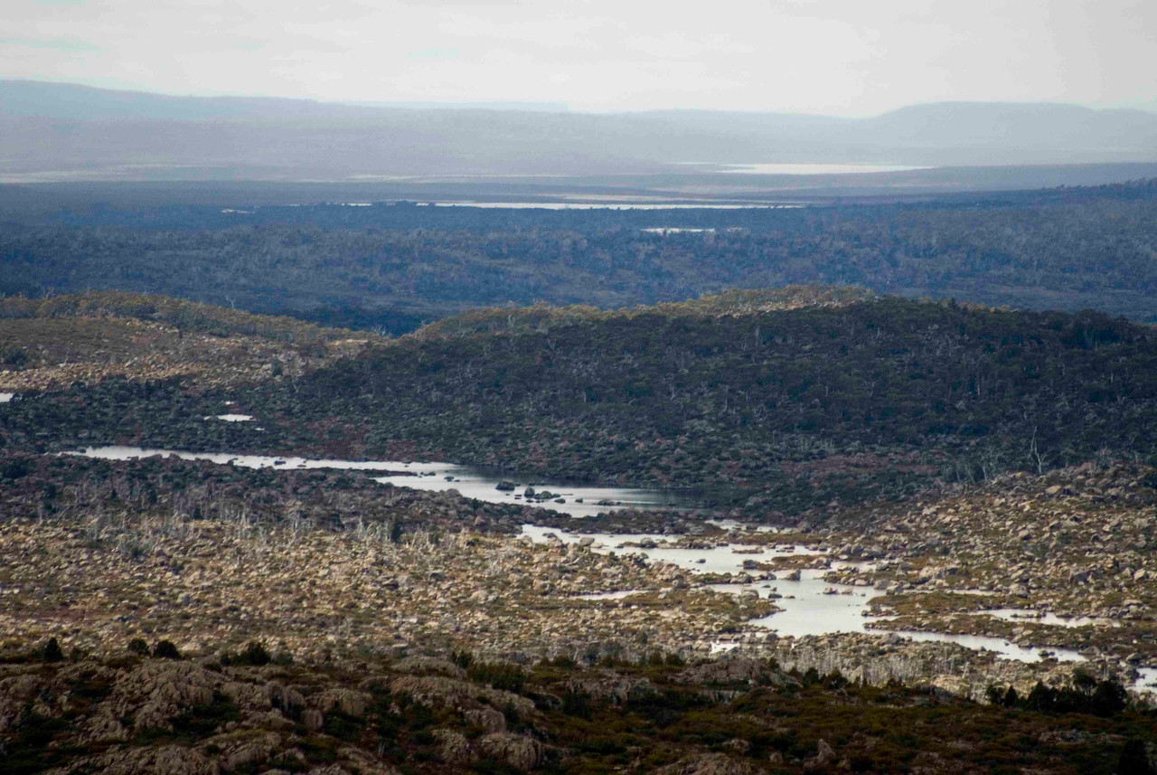 The incredible expanse of wilderness surrounding Walls of Jerusalem National Park