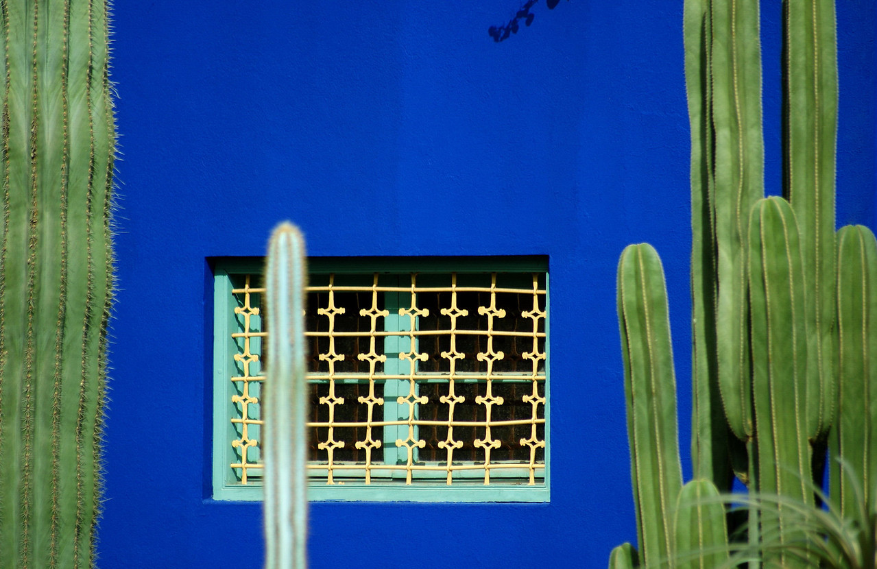 Jardin Majorelle, in Marrakech's Ville Nouvelle, is owned by Yves Saint-Laurent