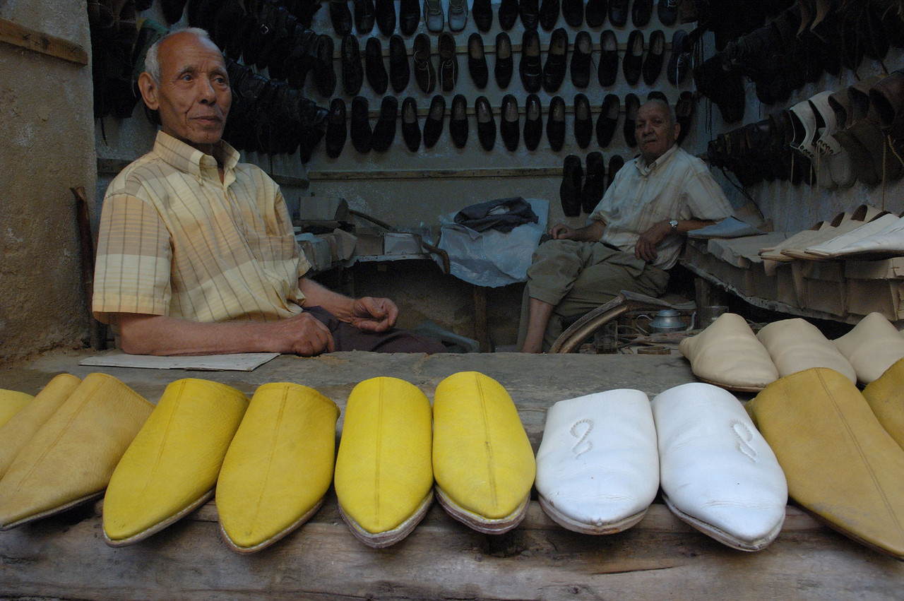 Yellow is the traditional colour for the Fassi babouches