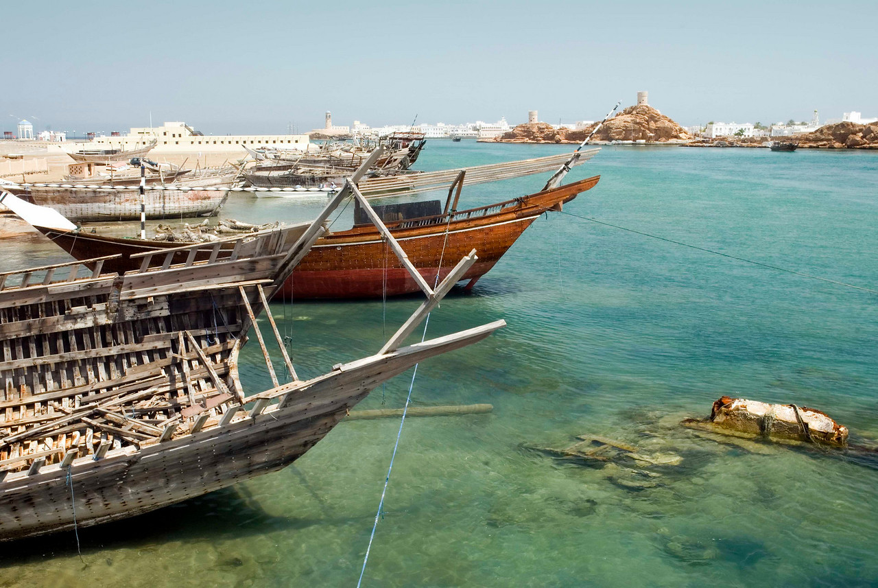 Long before the British India Steamer Navigation Company set up an HQ here in the 19th century, and even before the arrival of Portuguese caravels in the 16th century, Sur was one fo the most important trading and dhow-building ports in the Gulf.