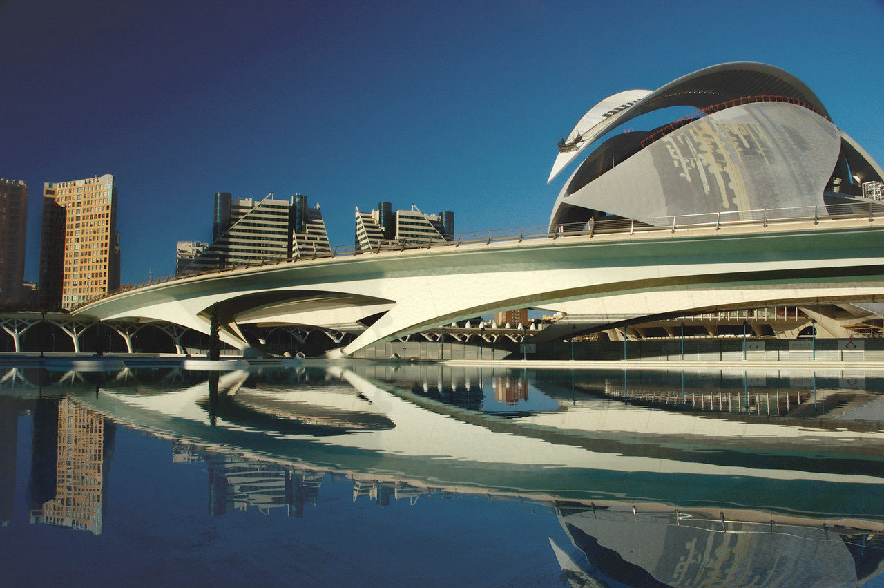 Four million visitors a year come to see Valencia's spectacular City of Arts and Sciences...making it the second most visited attraction in Spain (after the Prado).