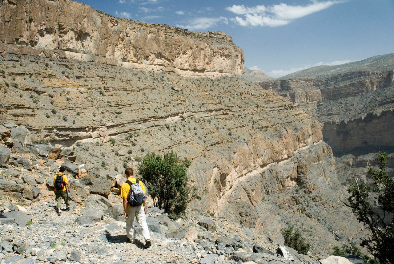 Oman's Grand Canyon is a spectacular 1000-metre chasm carved by the fickle waters of Wadi Ghul