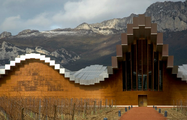 Santiago Calatrava designed Ysios's state-of-the-Art vinification plant to blend with the rugged hills of the Sierra de Cantabria