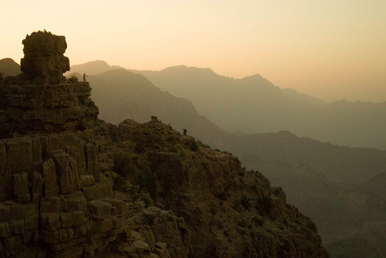 The dramatic landscape of the Western Hajars is a climber's and trekker's paradise and is capped by Jebel Akhdhar 9the Green Mountain) at 2980m.