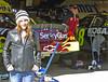 Brooke at Jeff Gordons garage at the Pep Boys 500 NASCAR Race