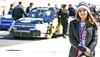 Brooke at the Pep Boys 500 NASCAR Race