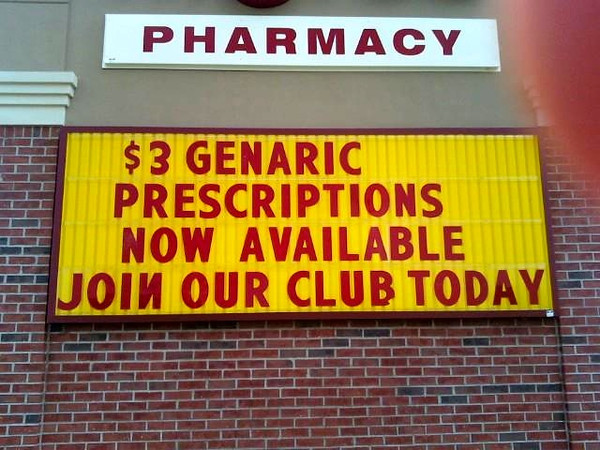 Not sure you can trust them with filling prescriptions if they cant spell..