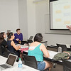 Dr. Kent Byus gives a lecture on Marketing Research and Analysis.