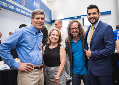 Jim Shiner(left) Barbara Agerton, David Bendett and David Fonseca during the Where is the Money event held at the Coastal Bend Business Innovation Center.  More photos: https://flic.kr/s/aHskzJGuuP