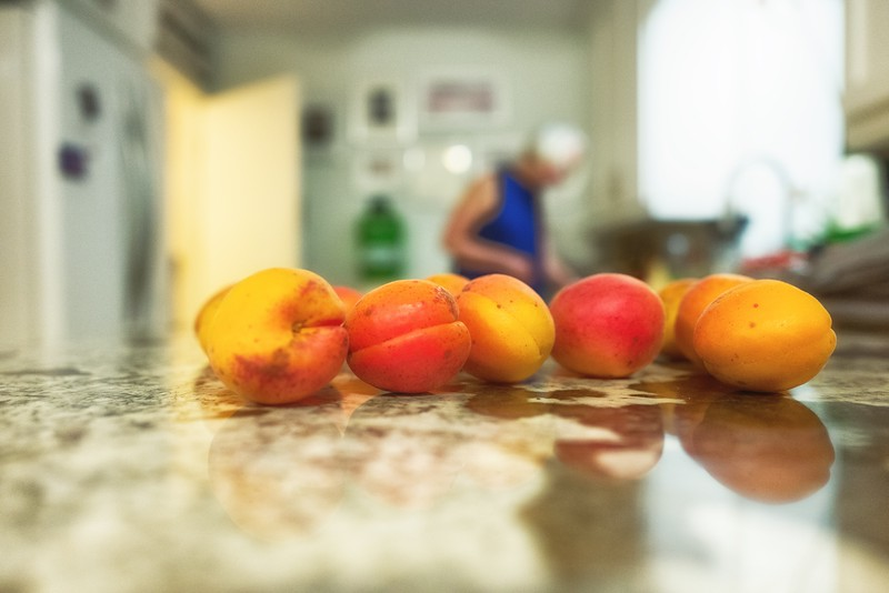 Apricots in the kitchen