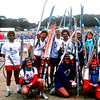 Group XC skiers at Polo Fields