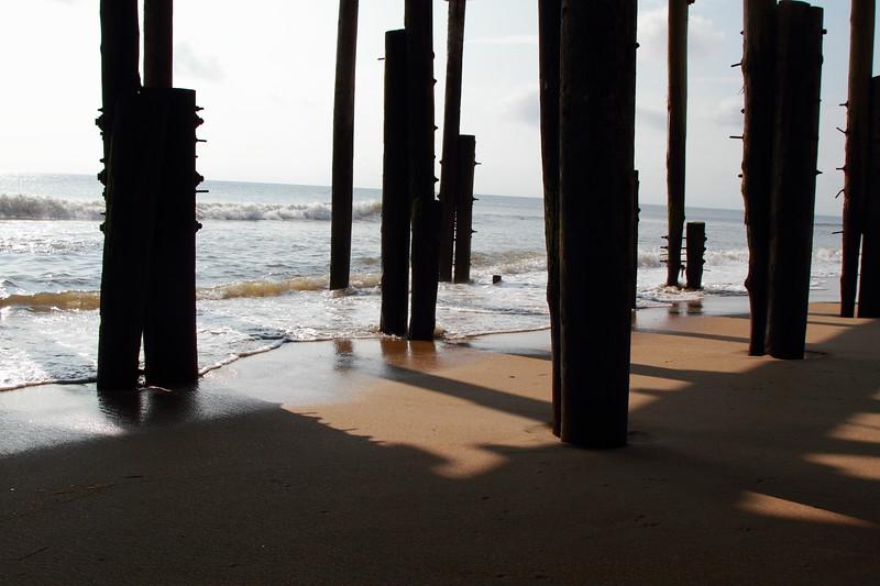Posts Under Boardwalk at Kitty Hawk NC