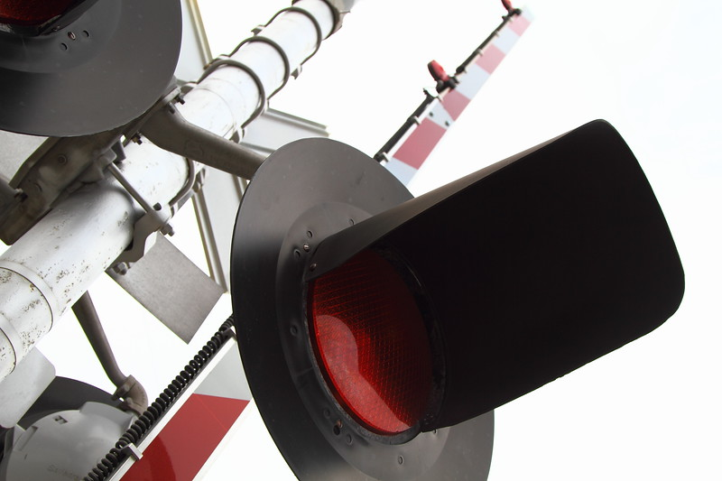 Railroad Crossing Light and Fence