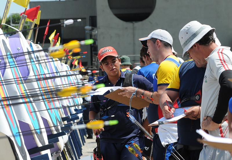 Rio de Janeiro - 40 Campeonato Brasileiro de Tiro com Arco - 31.10.14 - Foto de Rossana Fraga/CBTARCO - Local: Sambódromo RJ NF: Marcelo