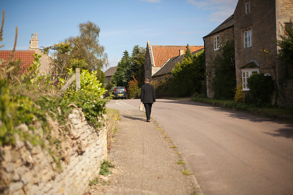 © 2012 KT WATSON A quiet Sunday morning in an English village. Bulwick, UK