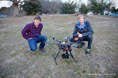 Dominic Sansotta & Zach Burkhart with Nowsay Media Drone