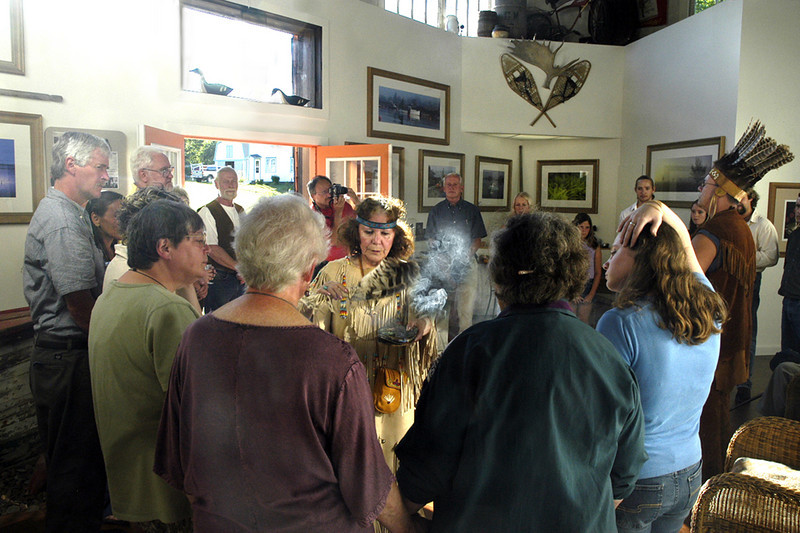 PASSAMAQUODDY SMUDGING CEREMONY FOR  GALLERY